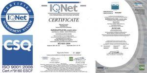 certificato iso9001-2008 Euroscaffale composizione