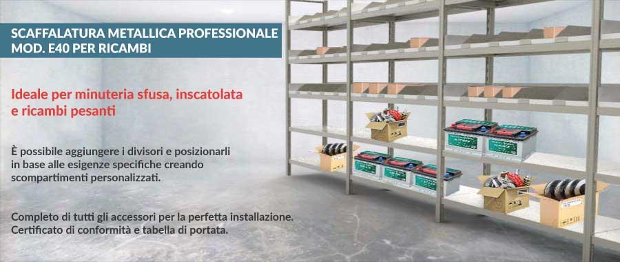 magazzino ricambi pesanti scaffalature offerta Euroscaffale ambientazione