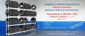 prezzi porta pneumatici Euroscaffale offerta 690