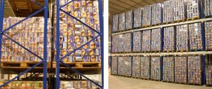 scaffali porta pallets grande settore alimentare composizione Euroscaffale