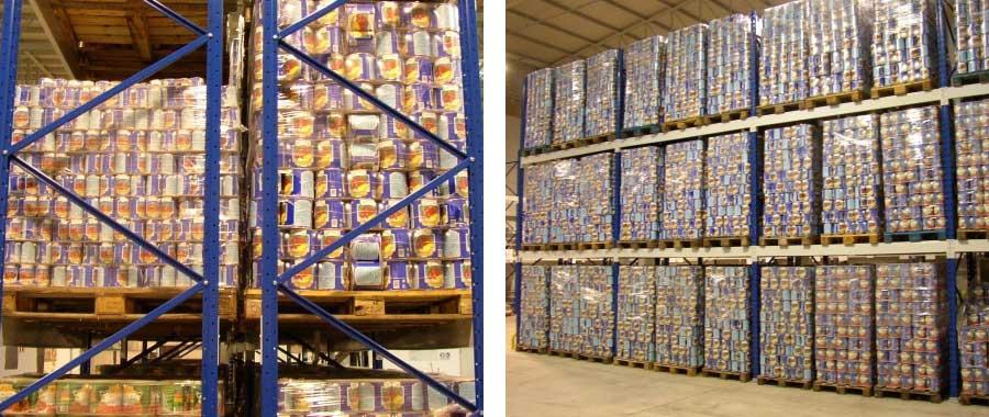 scaffale portapallet per deposito settore alimentare modello E90 euroscaffale