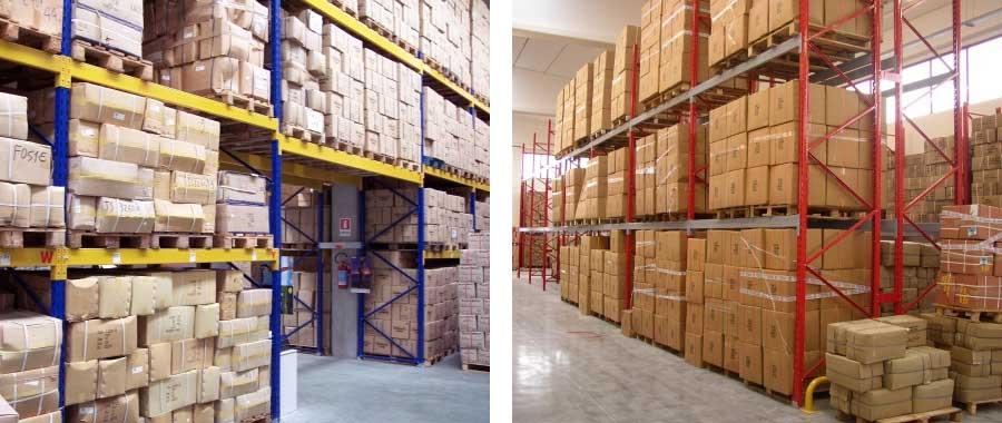 scaffalature per magazzino grande distribuzione grossisti e importatori modello E90 euroscaffale
