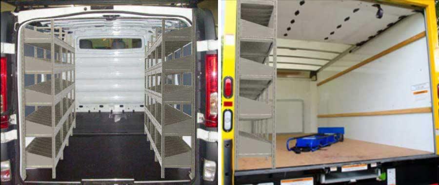 Allestimento furgone slider Euroscaffale