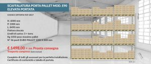 portapallets modello E90 offerta 949 2017 Euroscaffale