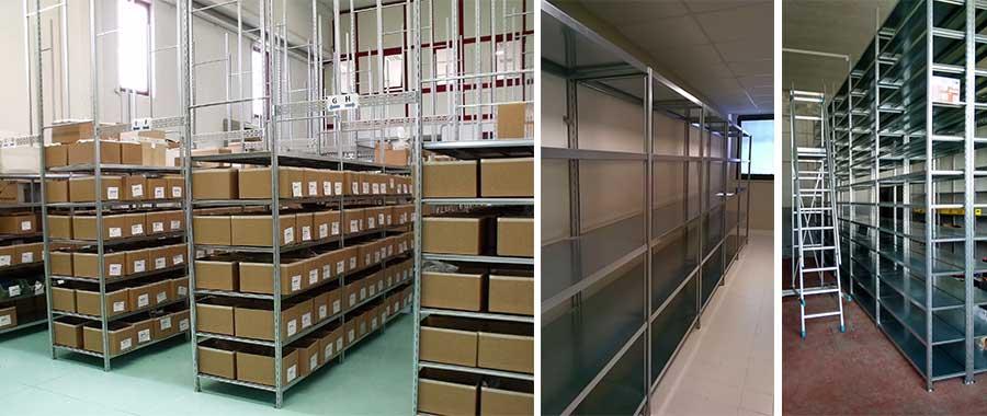 scaffali per magazzino per scatole manuale modello E40 euroscaffale