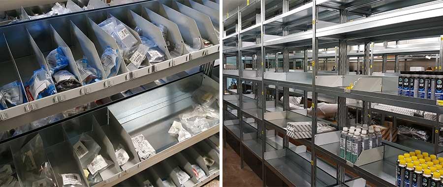 scaffalature metalliche modello per ricambi E40 euroscaffale