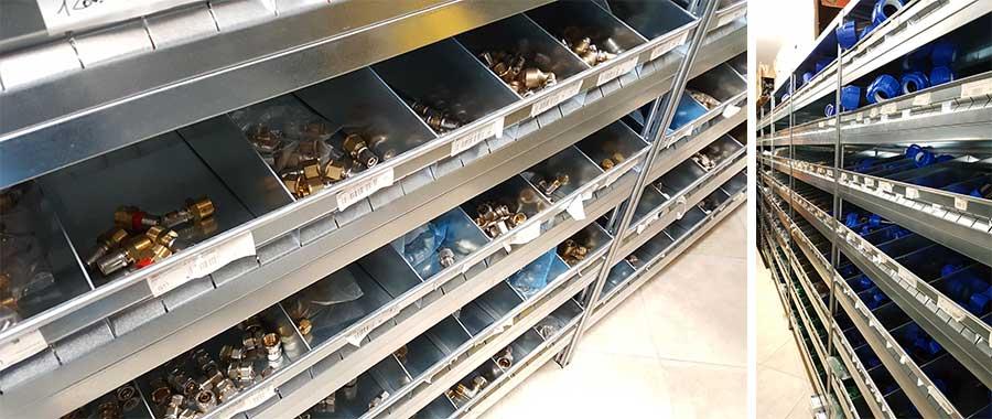 scaffalatura metallica modello E40 settore termoidraulica Euroscaffale 05