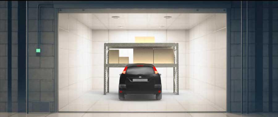 scaffalature per garage per automobile Euroscaffale