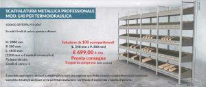 Scaffalatura metallica modello E40 settore termoidraulica offerta 973 Euroscaffale