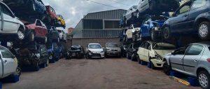 scaffalature porta auto autodemolitori piazzale esterno Euroscaffale