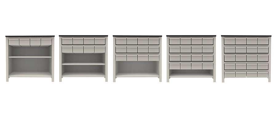 Banchi vendita con cassettiere Euroscaffale