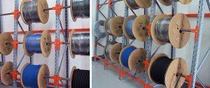 scaffalature porta bobine settore elettrico Euroscaffale
