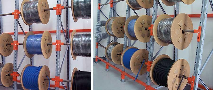 scaffalature porta bobine settore elettrico