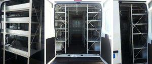 scaffalature per allestimento furgoni con sponde Euroscaffale