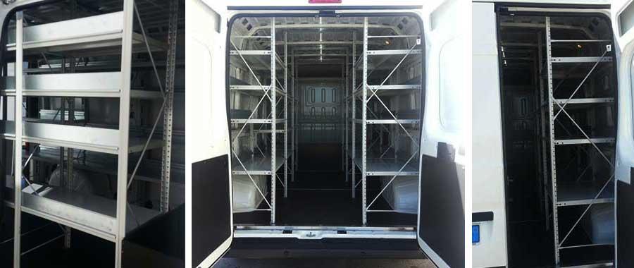 Scaffalature per allestimento furgoni