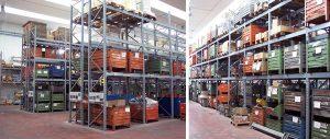 scaffalature settore meccanica porta pallets contenitori Euroscaffale