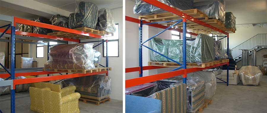 scaffali portapallet per magazzino per mobilifici modello E90 Euroscaffale
