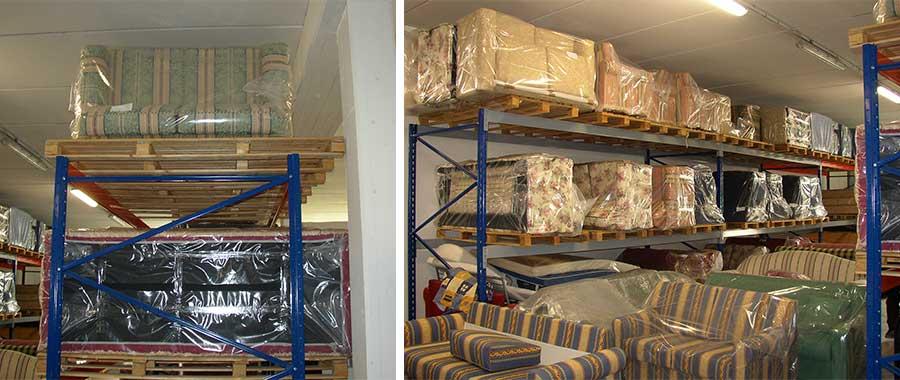 scaffali metallici per mobili divani e semilavorati profondità 1500 mm modello E90 euroscaffale