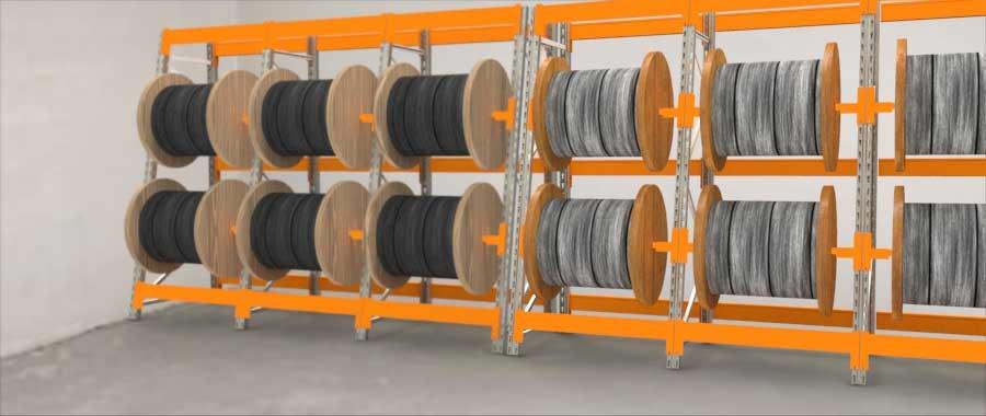 Slider Porta bobine settore elettrico Euroscaffale 004