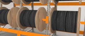 Slider Porta bobine settore elettrico Euroscaffale 005