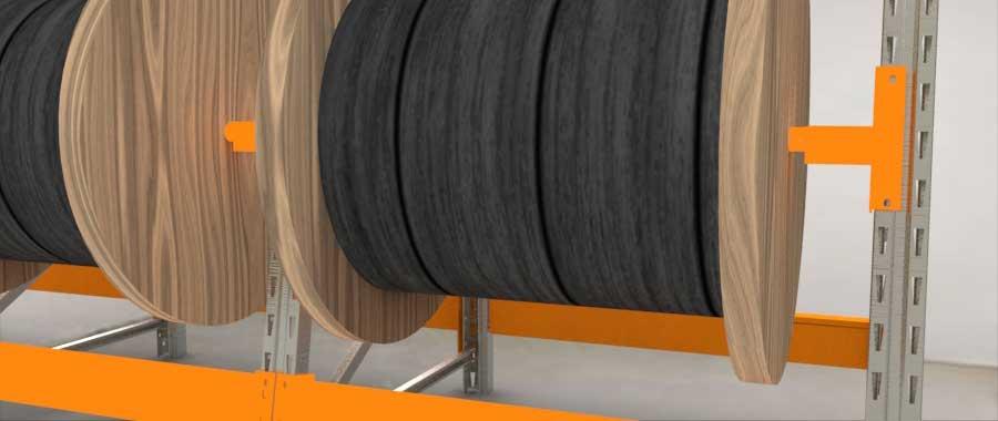Slider Porta bobine settore elettrico Euroscaffale 007