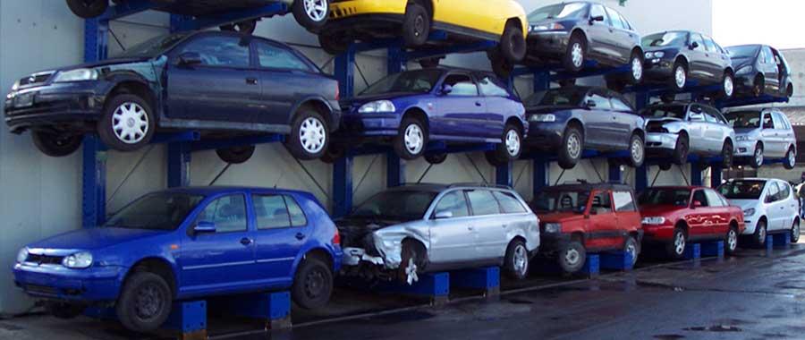 scaffalature cantilever porta auto verniciate monofronte modello 3ML euroscaffale