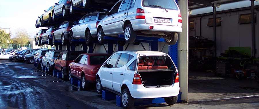 scaffale cantilever porta auto monofronte per 3 posti auto modello 3ML euroscaffale