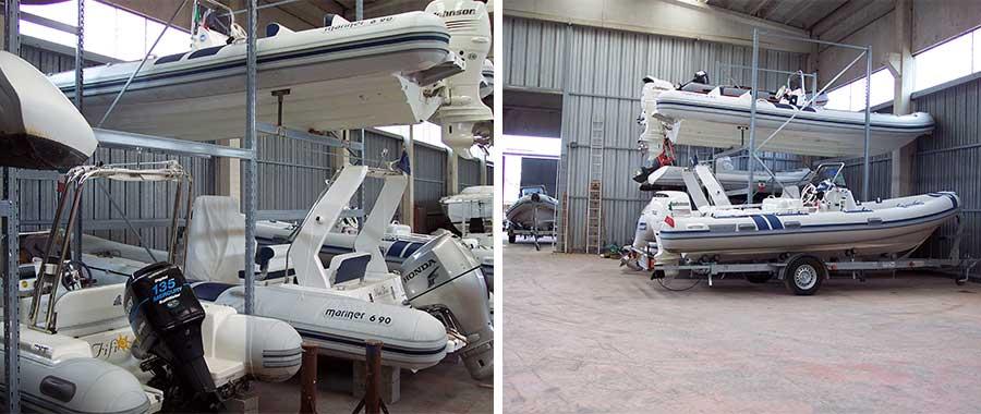 Scaffalature porta barche rimessaggio