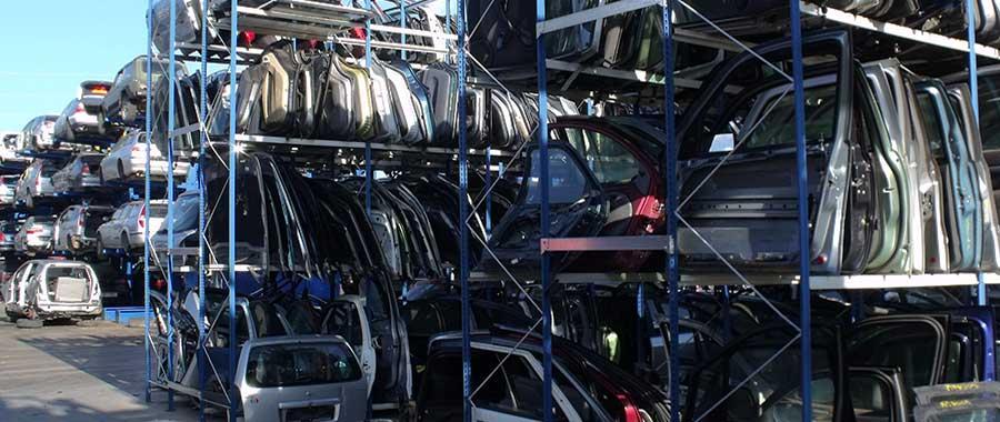scaffalature metalliche porta lamierati per autodemolitori modello E40 euroscaffale