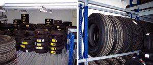 scaffalatura porta pneumatici per pneumatici industriali modello E90 euroscaffale