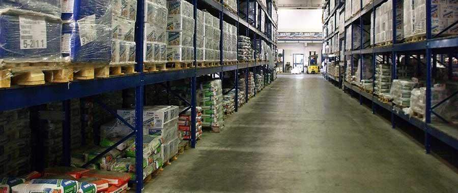 scaffalature per magazzino settore edile ad elevata portata modello E90 euroscaffale