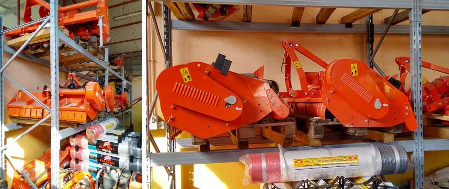 scaffalature porta pallet per ricambi agricoli pesanti e di grandi dimensioni modello E90 euroscaffale
