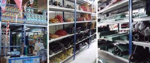 scaffali metallici per allestimento punto vendita di ricambi agricoli vari modello E40 euroscaffale