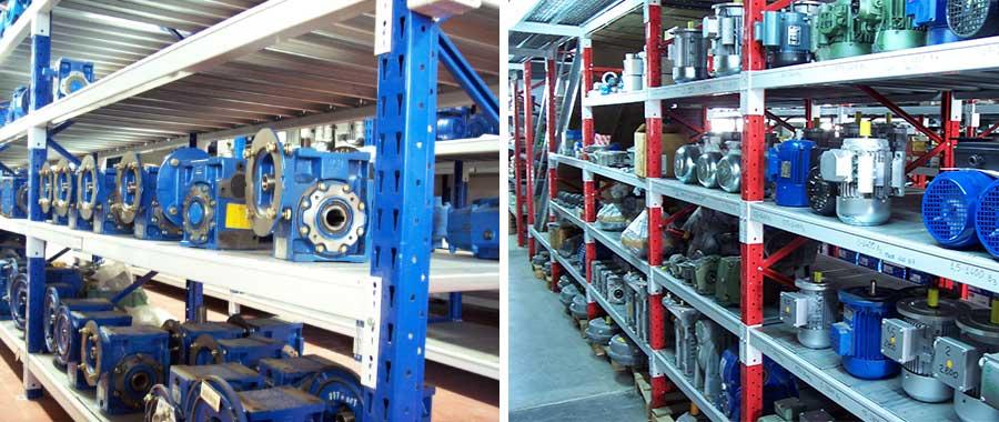 scaffalatura industriale media portata modello E60 settore meccanica Euroscaffale