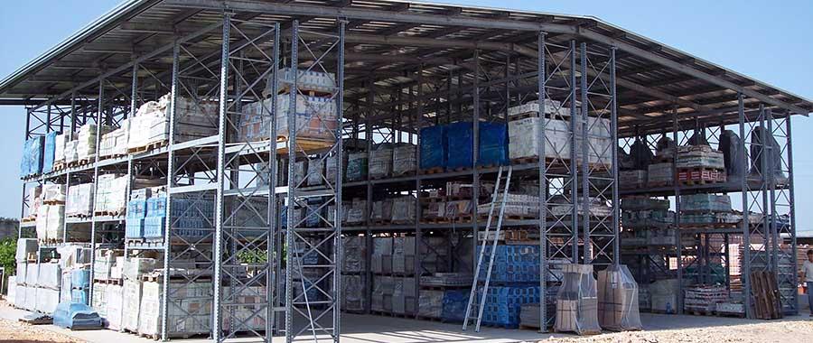 scaffalature porta pallet settore edilizia autoportante Euroscaffale