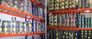 scaffalature edilizia per contenitori vernici su pallet Euroscaffale 001