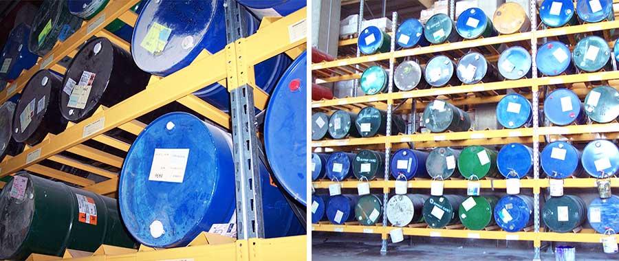 scaffalatura industriale edilizia porta fusti di vernici modello E90 euroscaffale