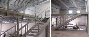scala di accesso soppalco in carpenteria Euroscaffale
