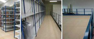 piano calpestio dei soppalchi in carpenteria per magazzini industriali Euroscaffale