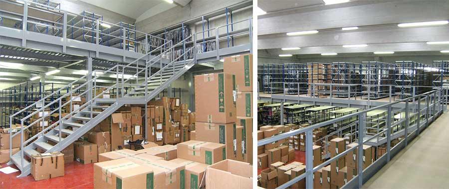 soppalchi in carpenteria per magazzini industriali Euroscaffale 01