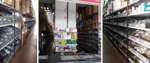 scaffalature magazzino e punto vendita settore termoidraulica Euroscaffale