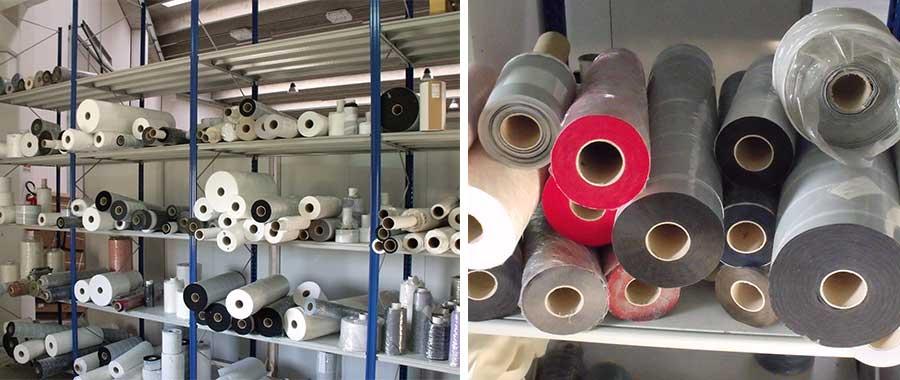 scaffali metallici settore tessile per il carico di bobine e rotoli di tessuti carico manuale modello e40 euroscaffale