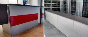 banchi vendita modulari con particolare porta a ventola euroscaffale
