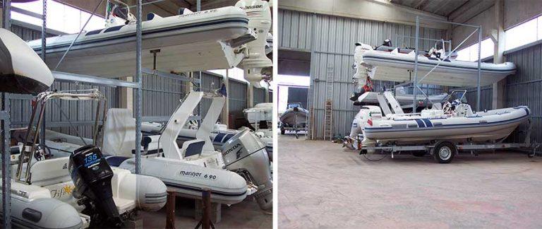 Scaffali rimessaggio barche