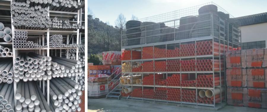 Scaffali per magazzino porta tubi e corrugati modello E40 euroscaffale