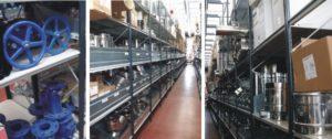 scaffali industriali per termoidraulica con articoli sfusi e di grandi dimensioni modello E40 euroscaffale