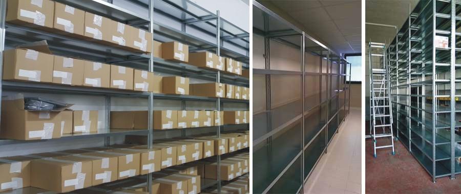scaffalature per magazzino per scatole a carico manuale modello E40 euroscaffale