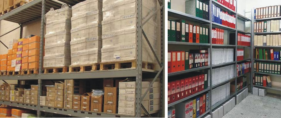 scaffalature metalliche per cartotecnica e archivio faldoni euroscaffale