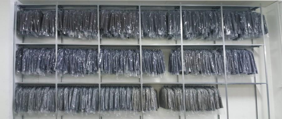 scaffalatura metallica per settore tessile e abbigliamento