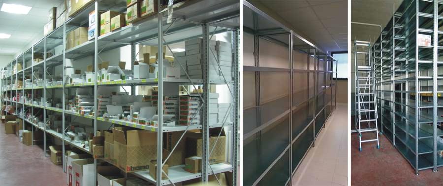 scaffalatura industriale per il carico manuale di materiale elettrico modello E40 euroscaffale